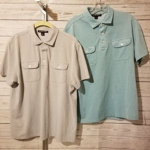 Lot of 2 Michael Kors Men's Polo Shirts